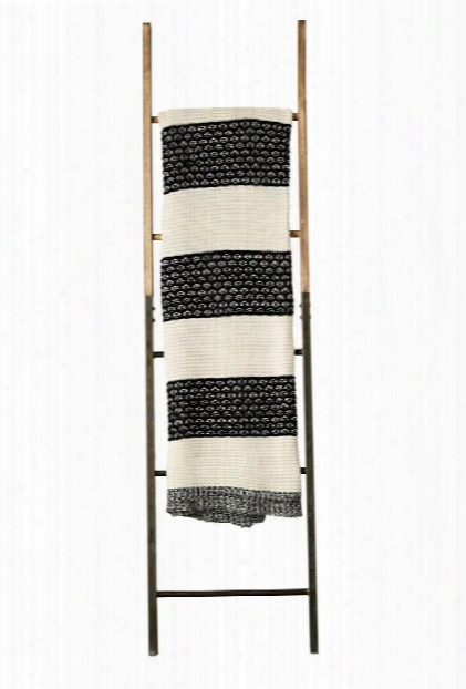 Cotton Knit Throw In Black & Cream Design By Bd Edition