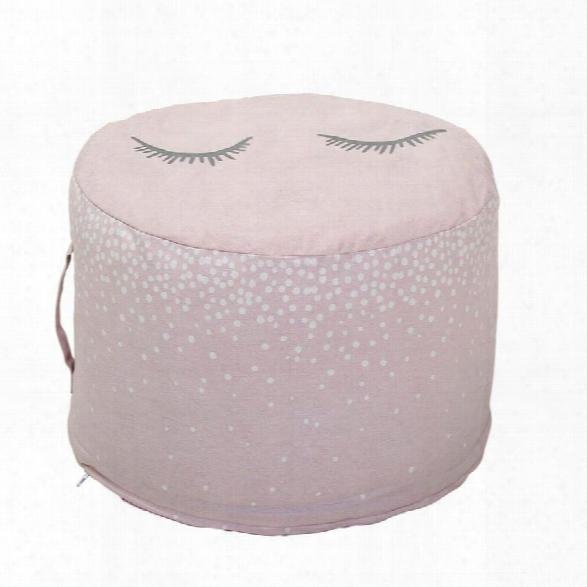 Cotton Pouf In Rose Design By Bd Mini
