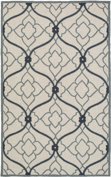 Courtyard Outdoor Rug In Navy & Beige Design By Candice Olson