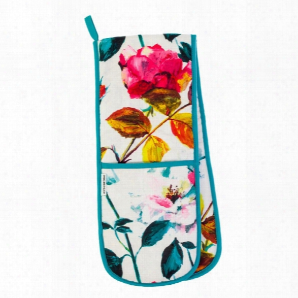 Couture Rose Fuchsia Double Oven Glove Design By Designers Guild