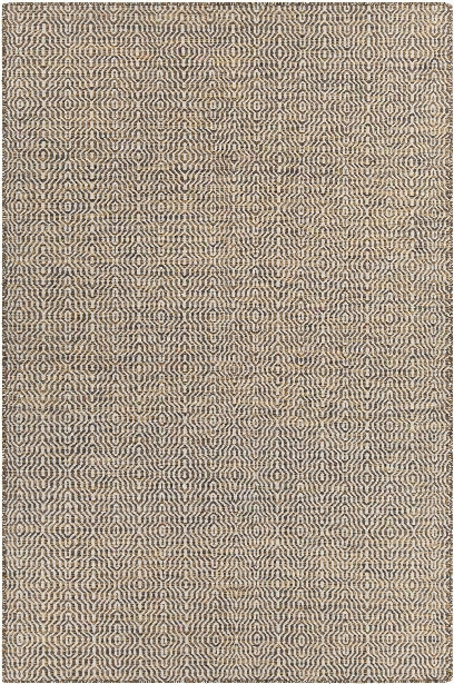 Crest Collection Hand-woven Area Rug In Ggold, White, & Black Design By Chandra Rugs