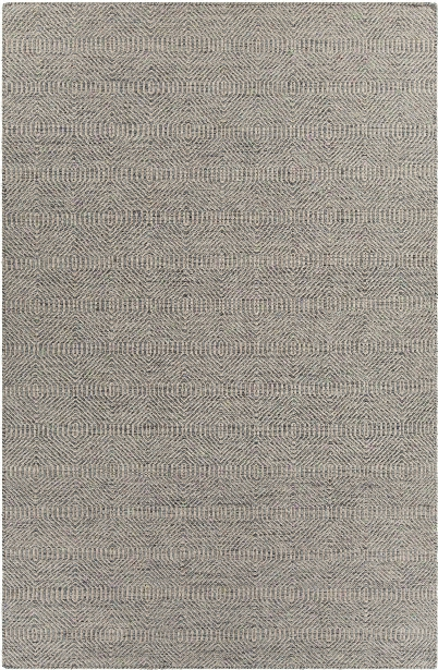 Crest Collection Hand-woven Area Rug In Light Blue & Beige Design By Chandra Rugs