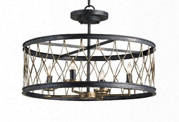 Crisscross Ceiling Mount Design By Currey & Company