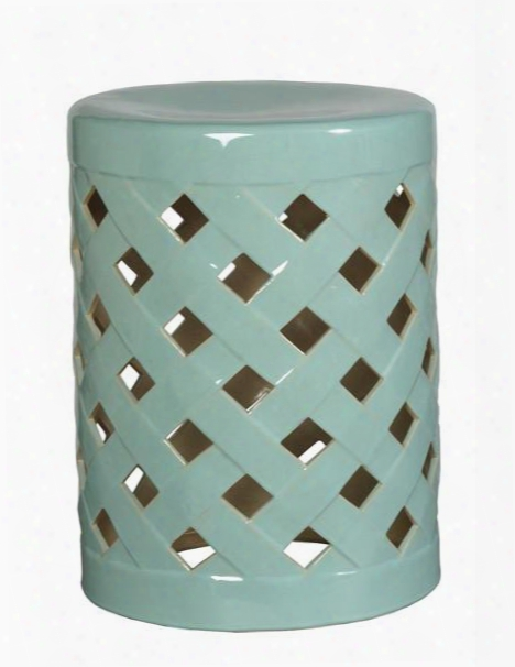 Crisscross Garden Stool In Turquoise Design By Emissary