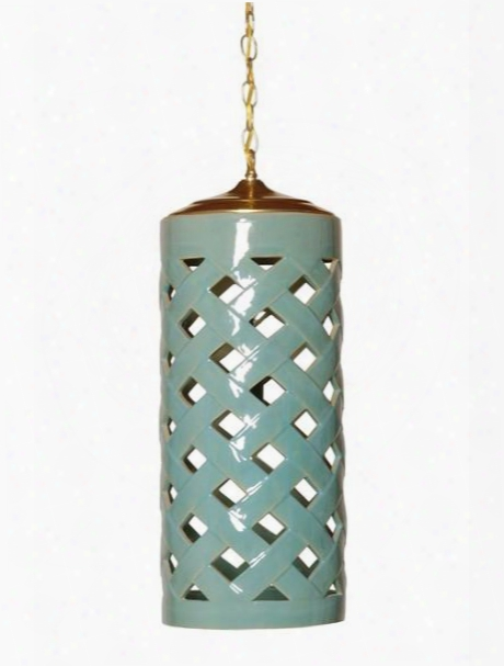 Crisscross Pendant Light In Turquoise Design By Emissary