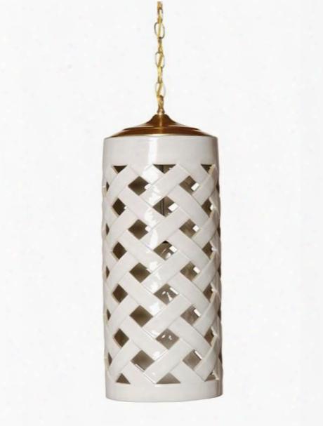 Crisscross Pendant Light In White Design By Emissary