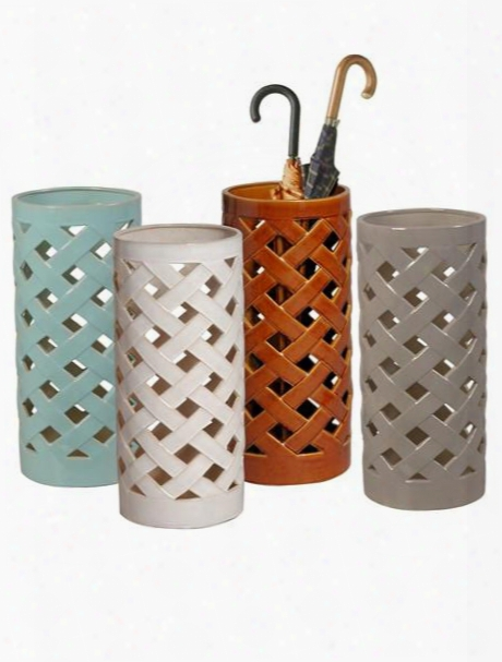 Crisscross Umbrella Stand In Multiple Colors Design By Emissary