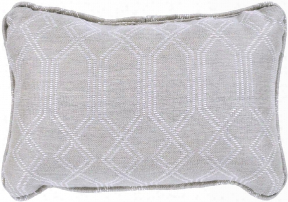 Crissy Pillow In Ivory & White Design By Sunbrella