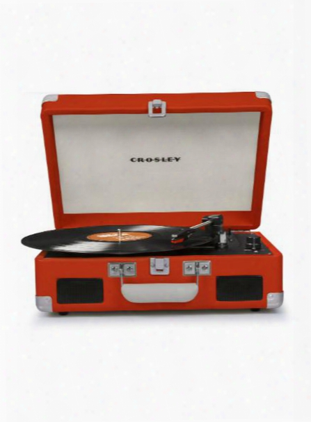 Cruiser Ii Portable Battery Powered Turntable In Orange Design By Crosley