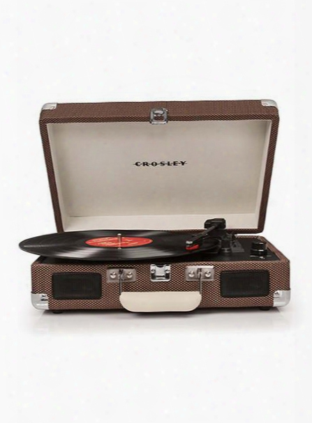 Cruiser Turntable In Tweed Design By Crosley
