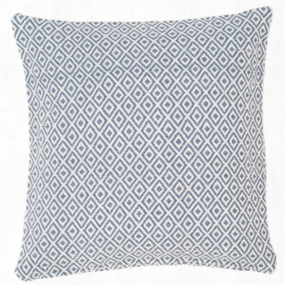 Crystal Denim/white Indoor/outdoor Pillow Design By Fresh American