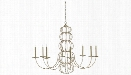 Clarion Chandelier in Majestic Silver Leaf design by Currey & Company
