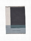 Colour Block Throw in Dusty Blue design by Ferm Living