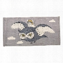 Cotton Rug w/ Owl design by BD Mini