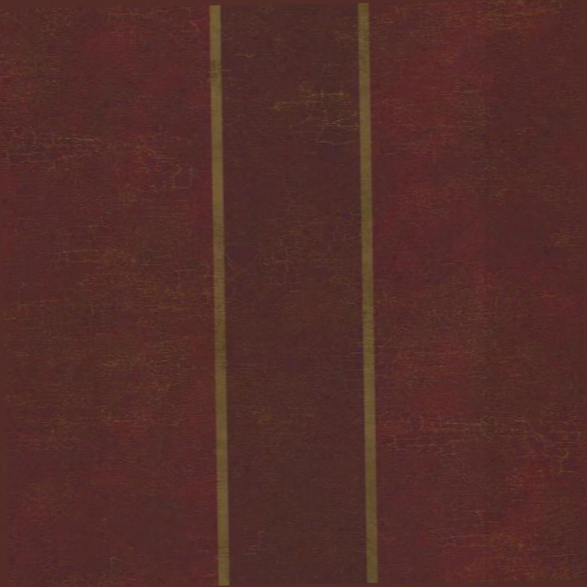 Aida Stripe Wallpaper In Red And Gold Design By York Wallcoverings