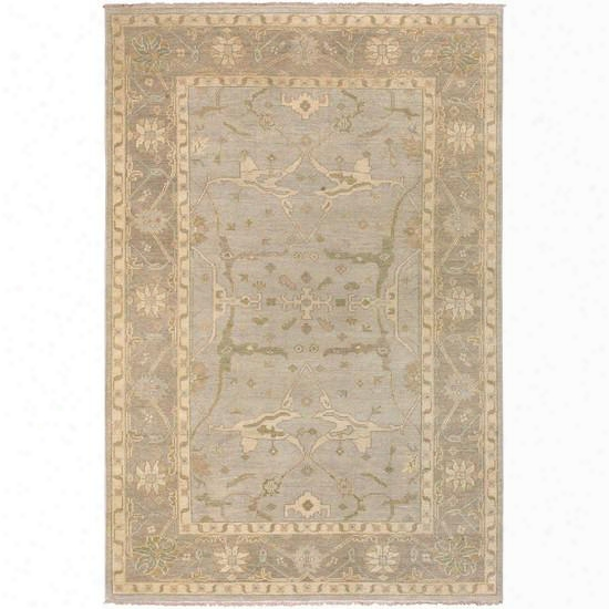 Ainsley Collection 100% Wool Area Rug In Blond, Papyrus, And Lemon Grass Design By Surya