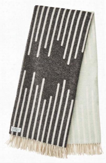 Alba Plaid Throw In Pale Mint & Grey Design By Oyoy