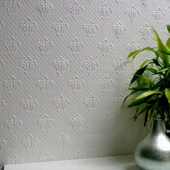 Albert Paintable Supaglypta Wallpaper Design By Brewster Home Fashions