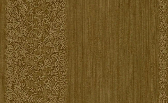 Albion Floral And Stripes Wallpaper In Browns And Metallic Design By Carl Robinson