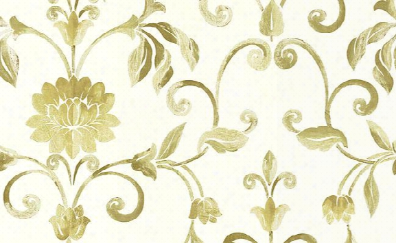 Aldersgate Floral Trail Wallpaper In Neutrals And White Design By Carl Robinson