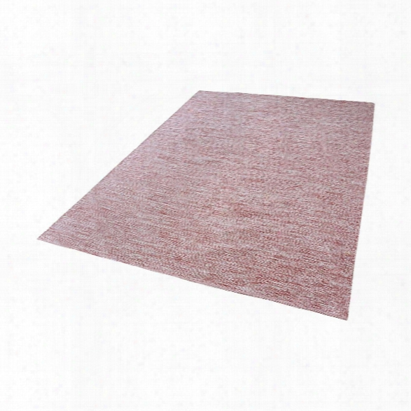 Alena Handmade Cotton Rug In Marsala And White Design By Lazy Susan