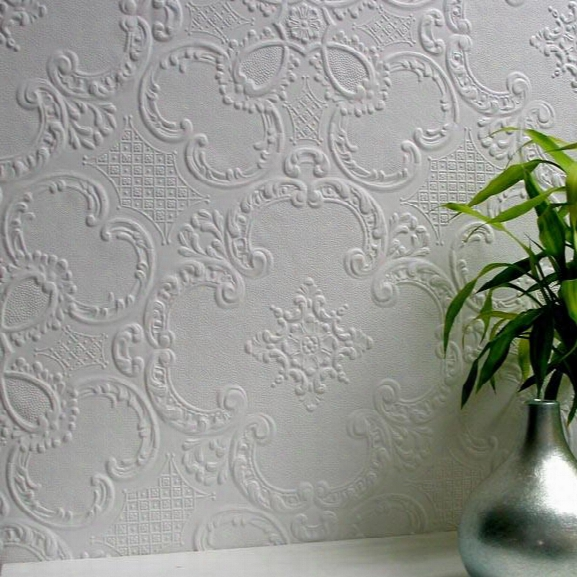 Alfred Paintable Supaglypta Wallpaper Design By Brewster Home Fashions