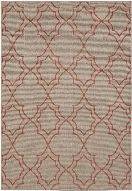Alfresco Outdoor Rug In Camel & Rust Design By Surya