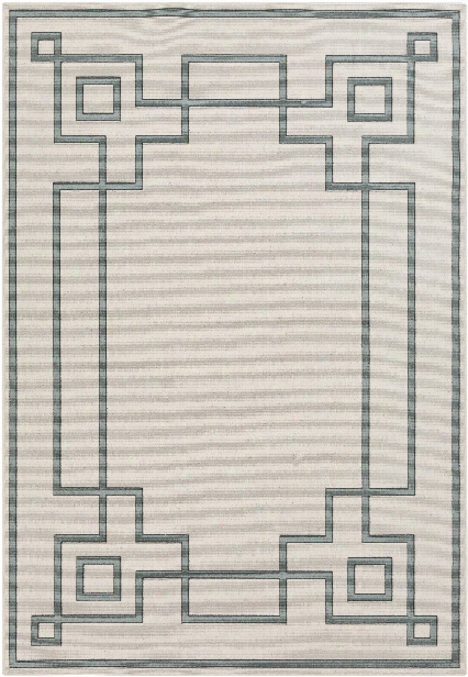 Alfresco Outdoor Rug In Cream & Sage Design By Surya