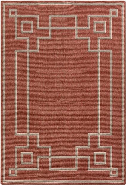 Alfresco Outdoor Rug In Rust & Camel Design By Surya