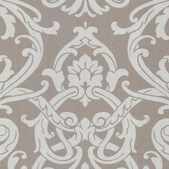 Alimos Pewter Damask Wallpaper From The Savor Collection By Brewster Home Fashions