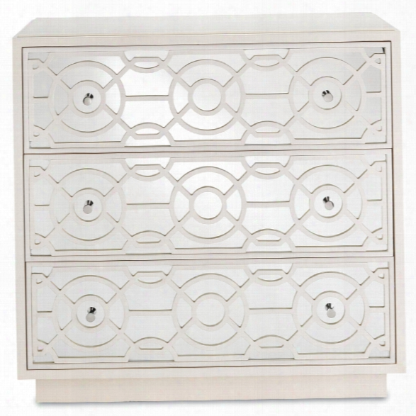 Alisa Three Drawer Chest Inn Marshmallow Design By Currey & Company