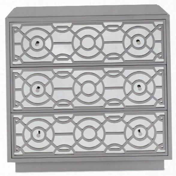 Alisa Three Drawer Chest In Paloma Design By Currey & Company