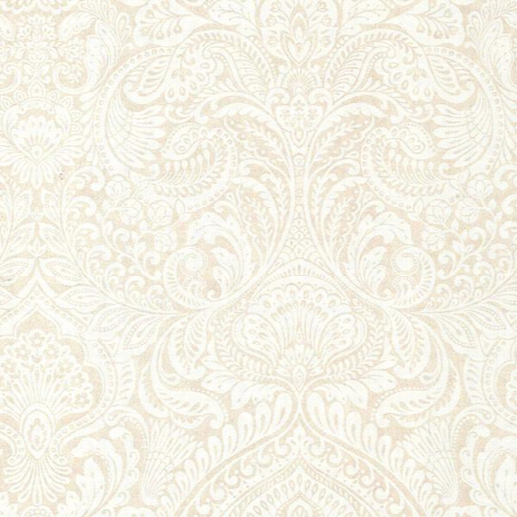 Alistair Cream Damask Wallpaper From The Avalon Collection By Brewster Home Fashions