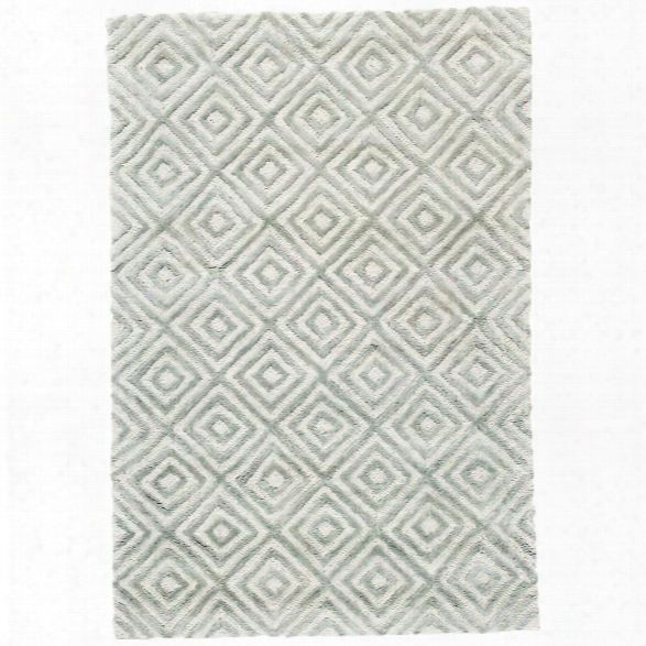 Cut Diamond Ocean Tufted Wool/viscose Rug By Dash Albert