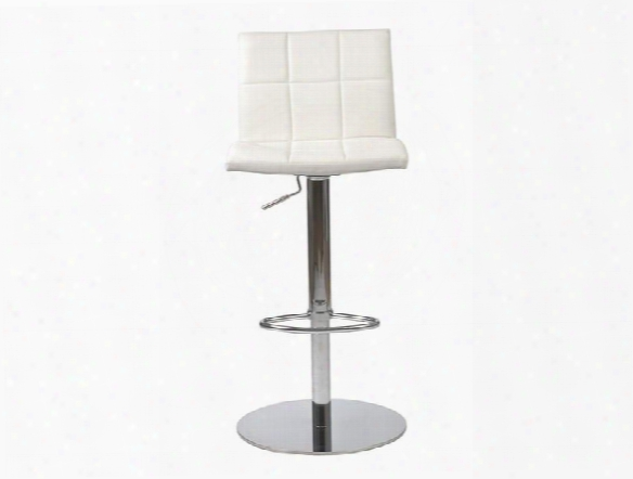 Cyd Rod/counter Stool In White Design By Euro Style