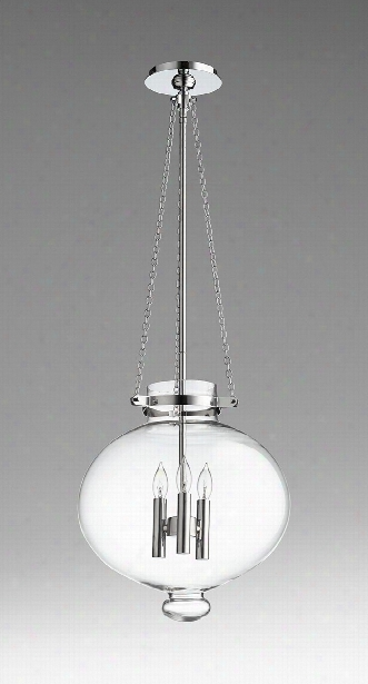 Cydney 3 Light Pendant In Chrome Design By Cyan Design