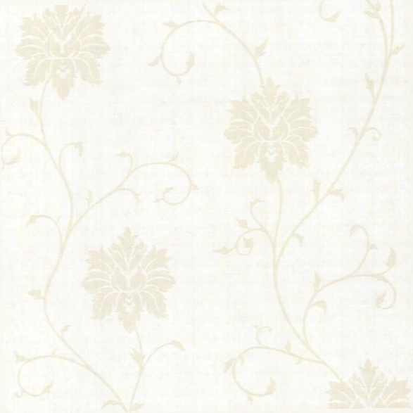 Dahli Pearl Floral Trail Wallpaper Design By Brewster Home Fashions