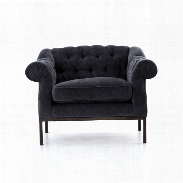 Damon Chair In Soft Charcoal Grey