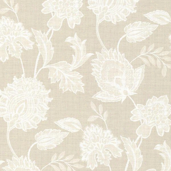 Danfi Beige Jacobean Wallpaper From The Savor Collection By Brewster Home Fashions