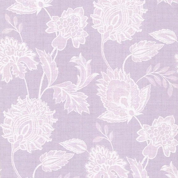Danfi Lilac Jacobean Wallpaper From The Savor Collection By Brewster Home Fashions