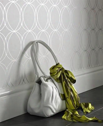 Darcy Pearl And White Wallpaper Of The Mode Collection By Graham And Brown
