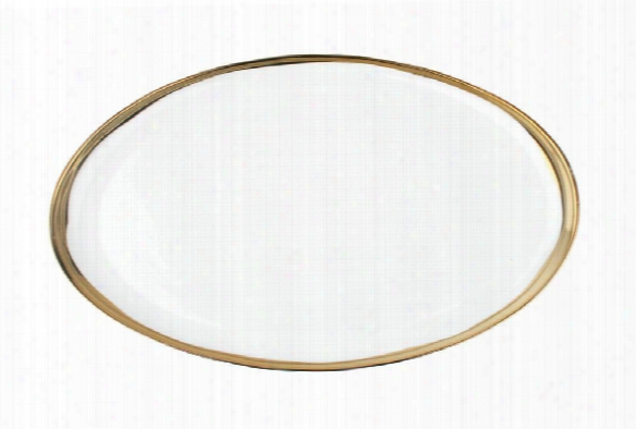 Dauville Platter With Gold Rim Design By Canvas