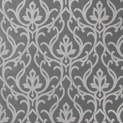 Dazzled Wallpaper In Glitter And Charcoal Design By Candice Olson