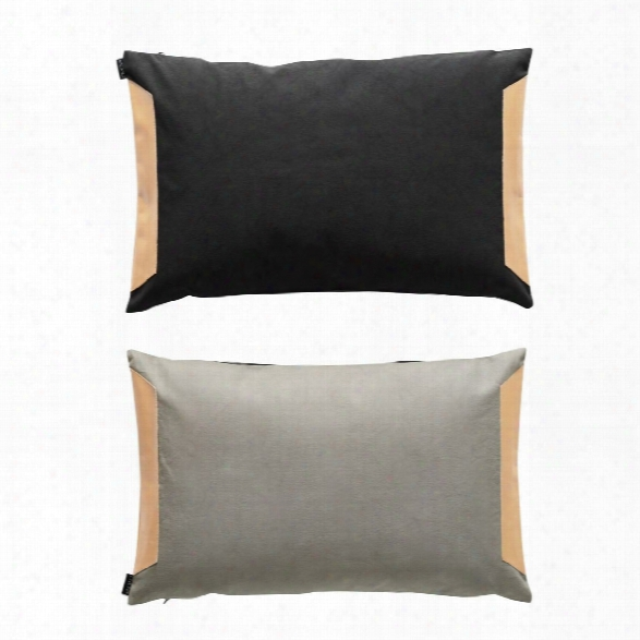 Deco Cushion In Anthracite & Grey Design By Oyoy