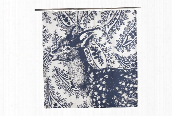 Deer Transferware Shower Curtain Design By Thomas Paul