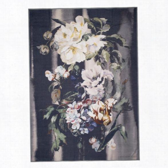 Delft Flower Noir Throw Design By Designers Guild