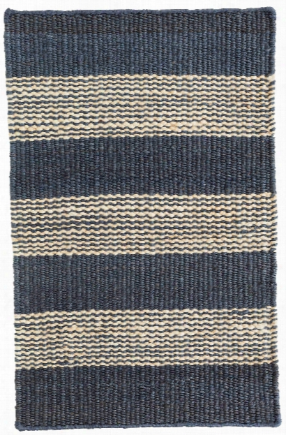 Denim Ticking Woven Jute Rug By Dash Albert