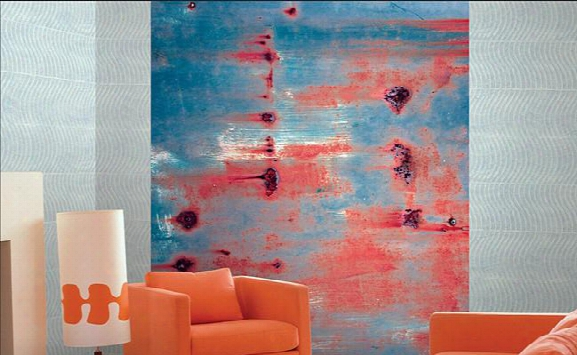 Derwent Abstract Wall Mural Design By Carl Robinson