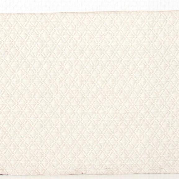 Diamond Ivory Matelassã© Bed Skirt Design By Pine Cone Hill