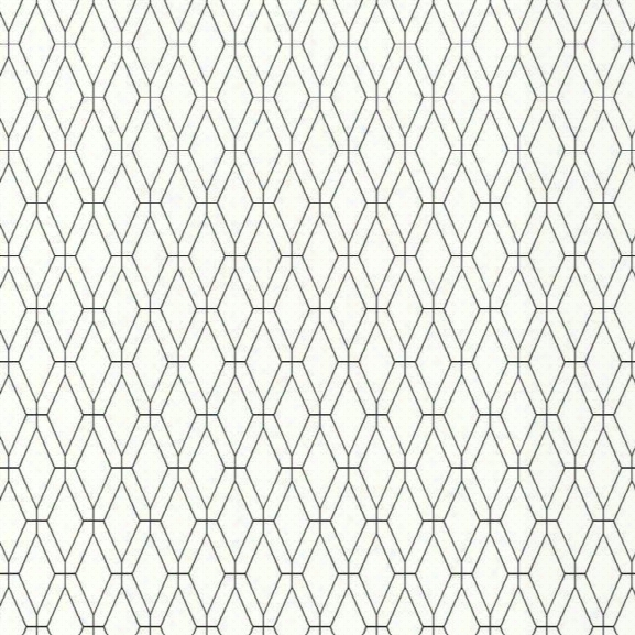 Diamond Lattice Wallpaper In Black From The Ashford Whites Collection By York Wallcoverings